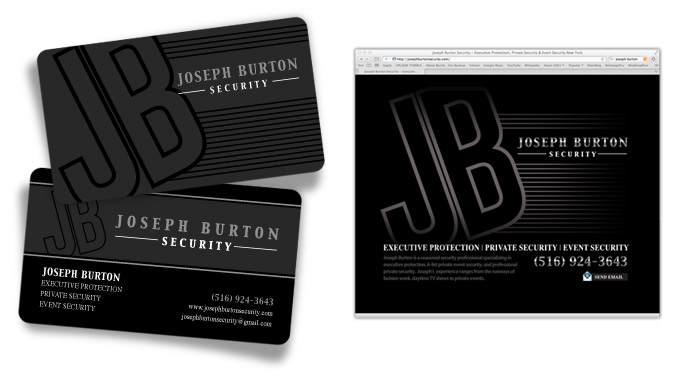 Graphic design for Joseph Burton Security