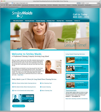 Website Design for Long Island Cleaning Company