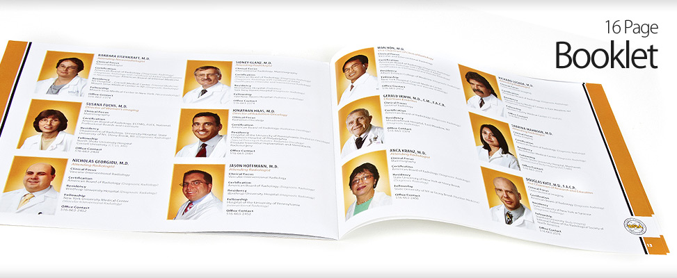 Booklet Design for Long Island Doctors and Radiology Offices in Mineola
