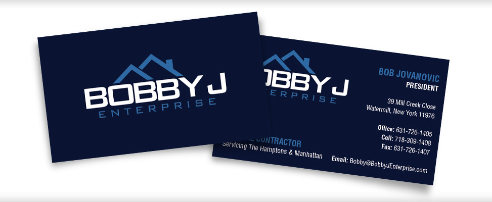 Custom business card design business card designer on long business card design for long island contractor reheart Image collections