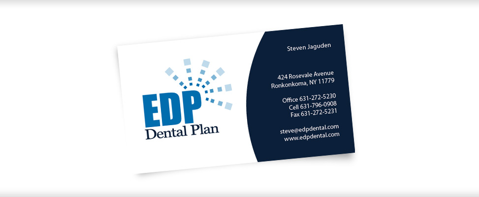 Custom business card design business card designer on long island business card design for dental plan company in suffolk county new york reheart Image collections
