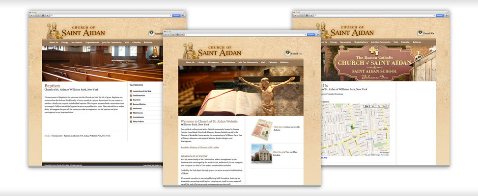 Long Island Church Website Design by Wet Ribet Inc.