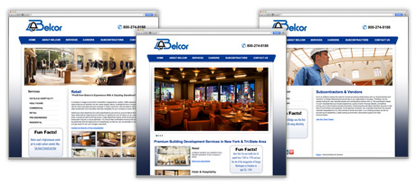 Belcor Builders website design by Wet Ribet